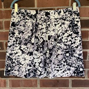 NWT Gap floral print mini skirt